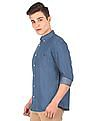 Aeropostale Dot Print Chambray Shirt