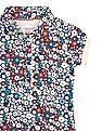 U.S. Polo Assn. Kids Girls Regular Fit Floral Print Polo Shirt