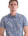 Flying Machine Regular Fit Tropical Print Shirt