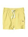 GAP Baby Yellow Solid Shorts