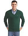 Arrow Sports Regular Fit Solid Sweater