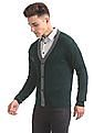 Arrow Sports V-Neck Solid Cardigan