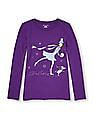 The Children's Place Girls Purple Long Sleeve Graphic T-Shirt