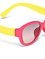 Unlimited Girls Oval Frame Colour Block Sunglasses