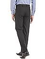 Arrow Charcoal regular-fit formal trousers