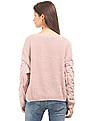 Aeropostale Round Neck Chunky Knit Sweater