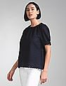 GAP Short Sleeve Eyelet Top