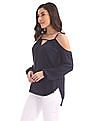Aeropostale Cold Shoulder Peasant Top