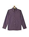Arrow Purple French Placket Patterned Shirt