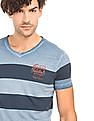 Flying Machine Striped Regular Fit T-Shirt