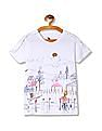 U.S. Polo Assn. Kids Girls Ruffle Trim Graphic T-Shirt