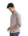Roots by Ruggers Beige Cotton Check Shirt